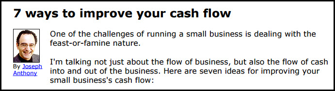 7 Ways to Improve Your Cash Flow