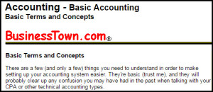 Basic Accounting Terms and Concepts