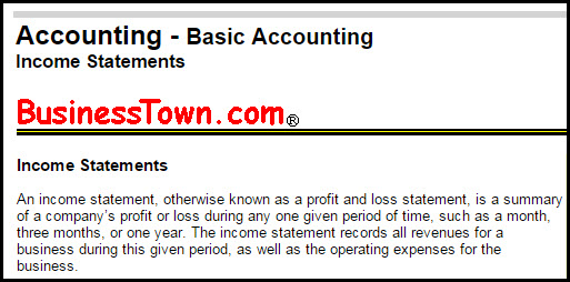 The Income Statement: Definition and Uses