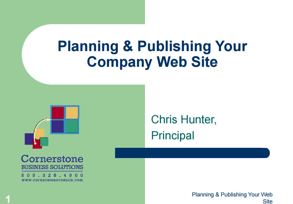 Planning and Publishing Your Company Website