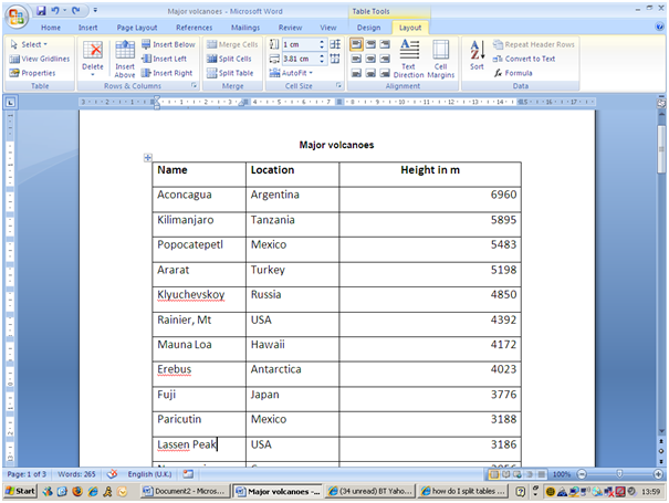 10 Steps for Working with MS Word Tables