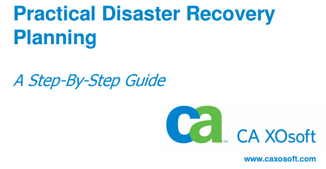 Practical IT Disaster Recovery Planning Booklet